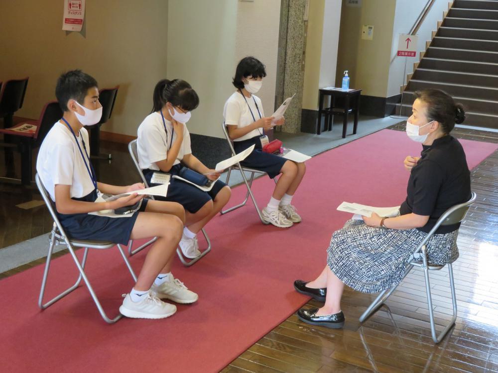 赤湯中学校生徒の皆さんが来館されました ①職場体験