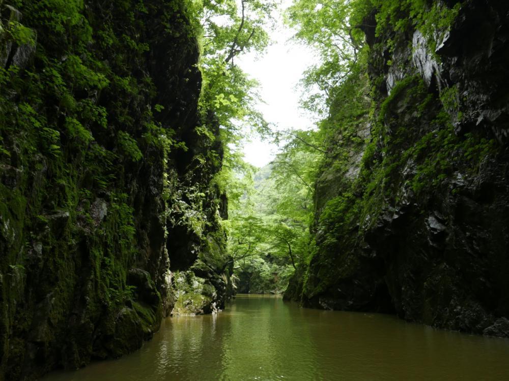 秘境・三淵渓谷を巡るボートツーリング7月前半の運航日程