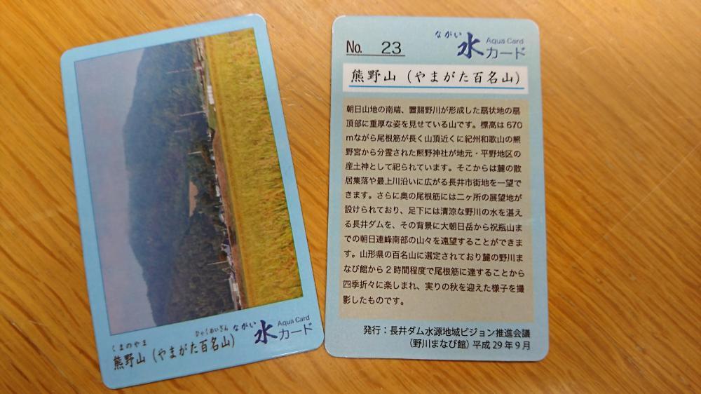 「ながい水カード」NO.23を発行しました。