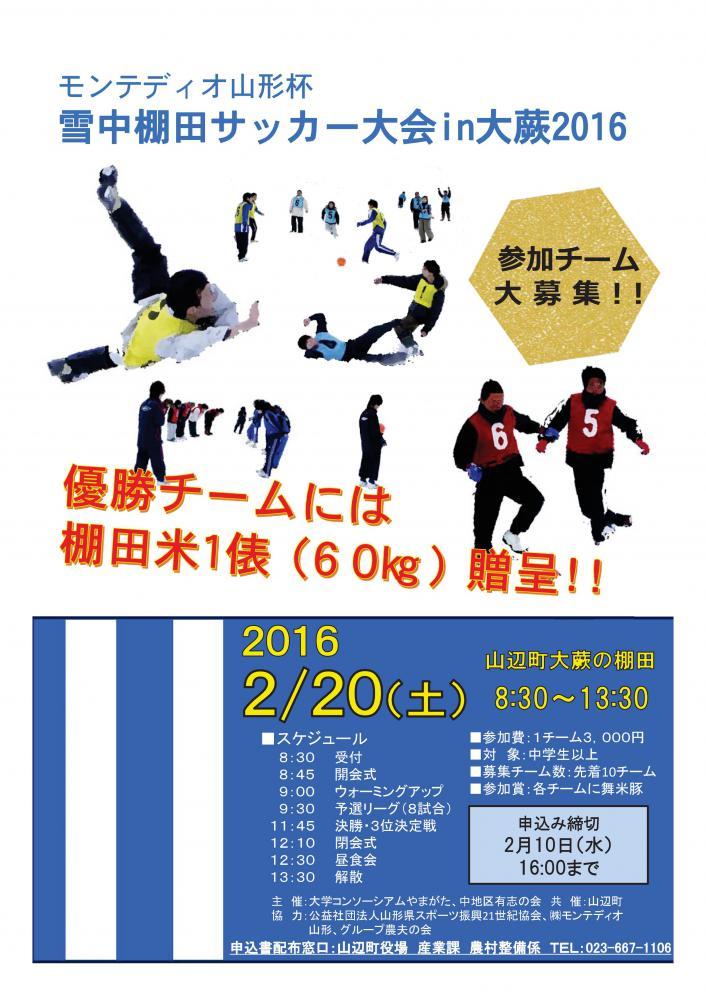 モンテディオ山形杯 雪中棚田サッカー大会in大蕨2016