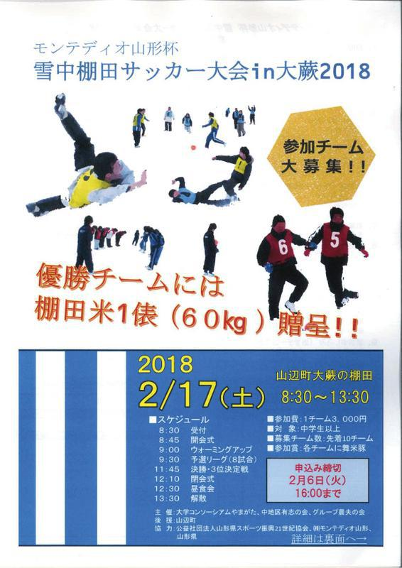 Tanada soccer meet in size bracken 2018 during Montedio Yamagata cup snow: Image