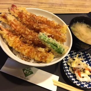 ★味よし「海老天丼です!!」:画像