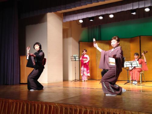 長井若柳会後援会総会と新春踊り染め会