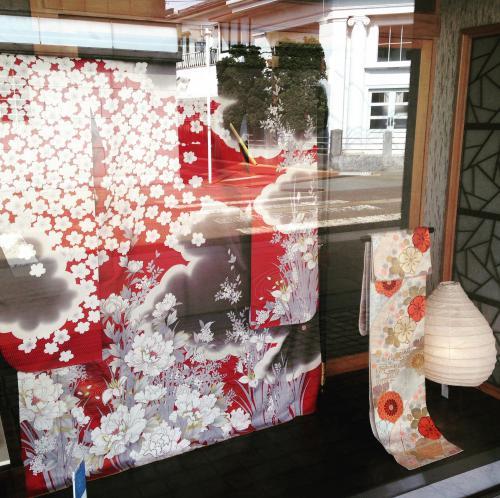 北国の桜振袖レンタル撮影:画像