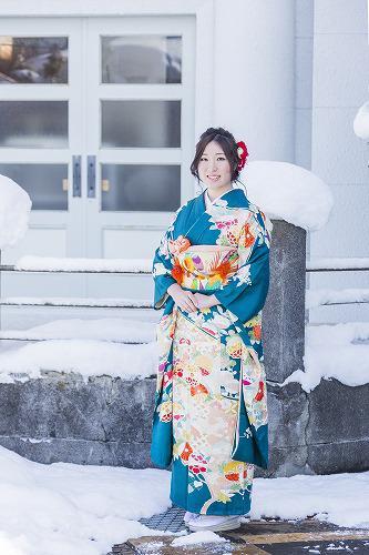 名残の雪景色のストリートロケ撮影:画像