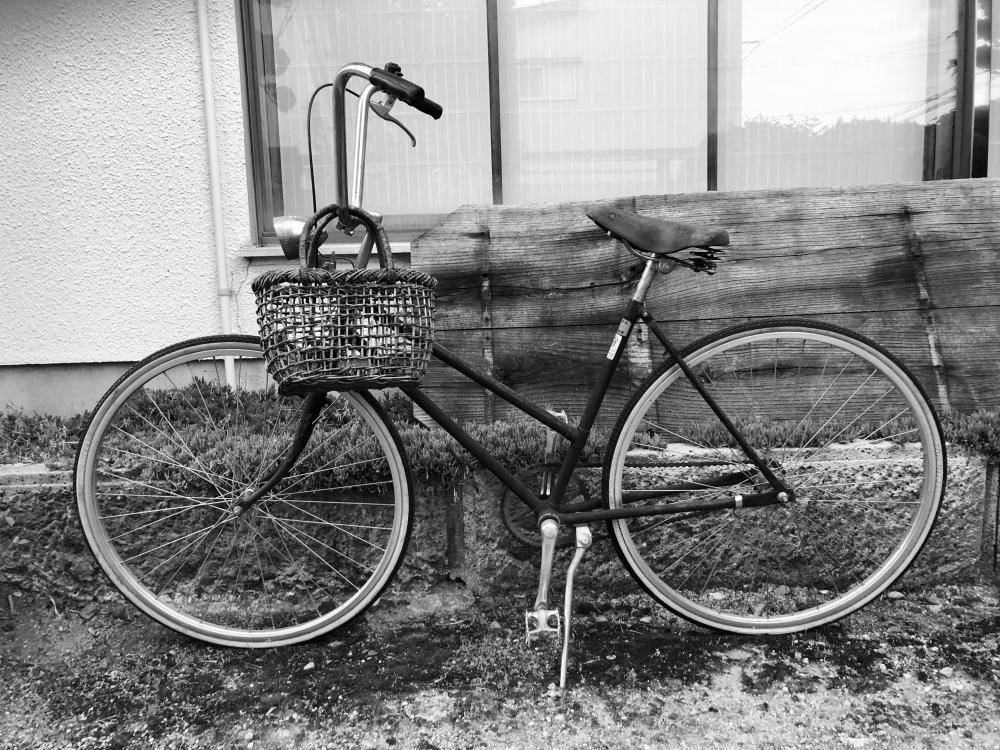 自転車の節痛感!