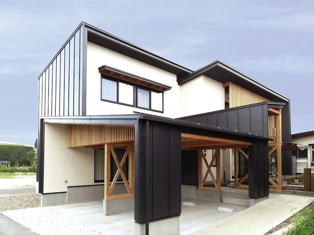 梁の見える家:画像