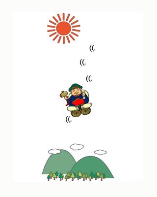 2014/08/09 05:30/空から人形、人形傘花火(風神祭の思い出)