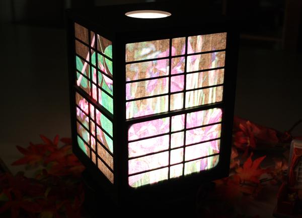 新製品:有機ELを活用した『行燈型照明器具』を製作:画像