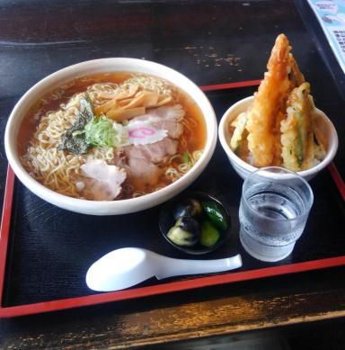ラーメン ミニ天丼セット