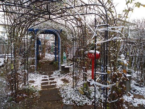 《バラ庭》ガーデンNOW〜・・初めての雪景色!!/