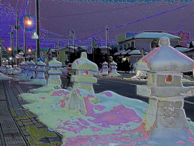藤島の雪灯篭