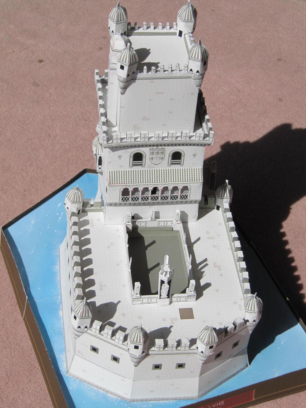ベレンの塔ペーパークラフト
