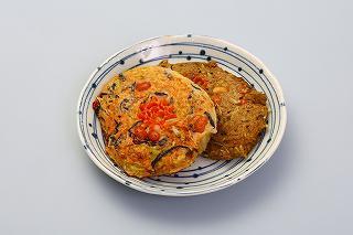 2017/10/24 09:14/自然薯と山形素材のお好み焼き〜白と緑