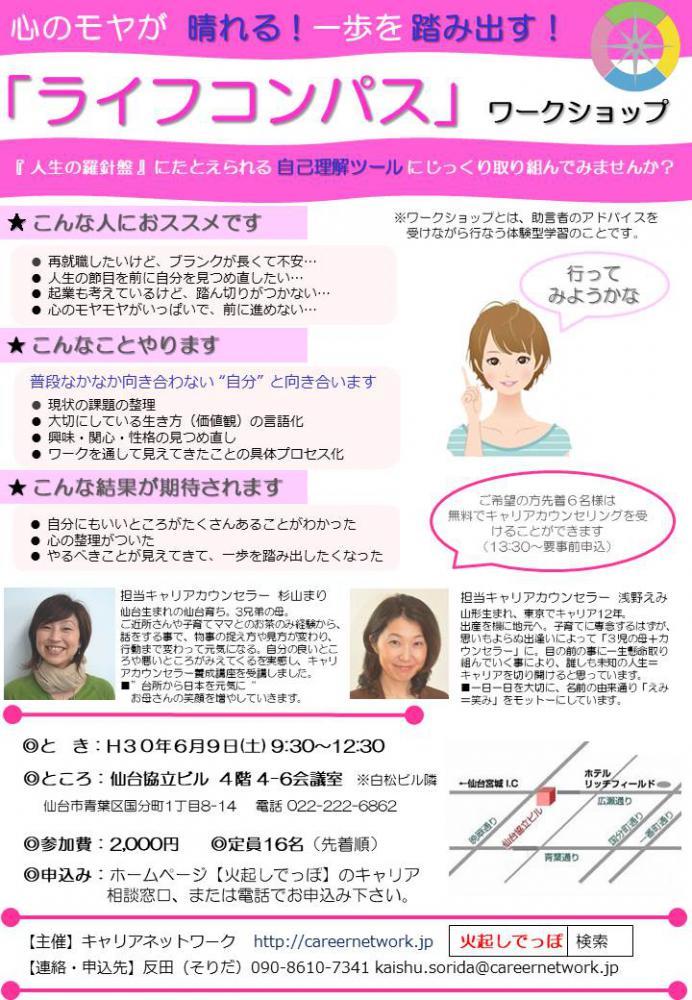 6.9ライフコンパス・ワークショップin仙台:画像
