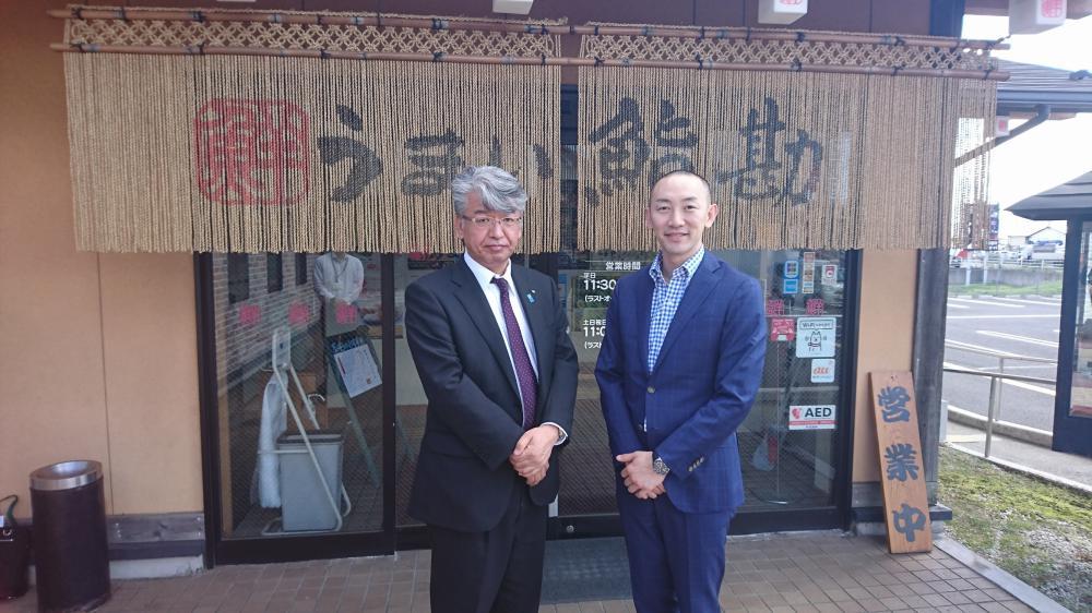木を植える鮨屋  【うまい鮨勘】  上野社長 勉強になりました:画像