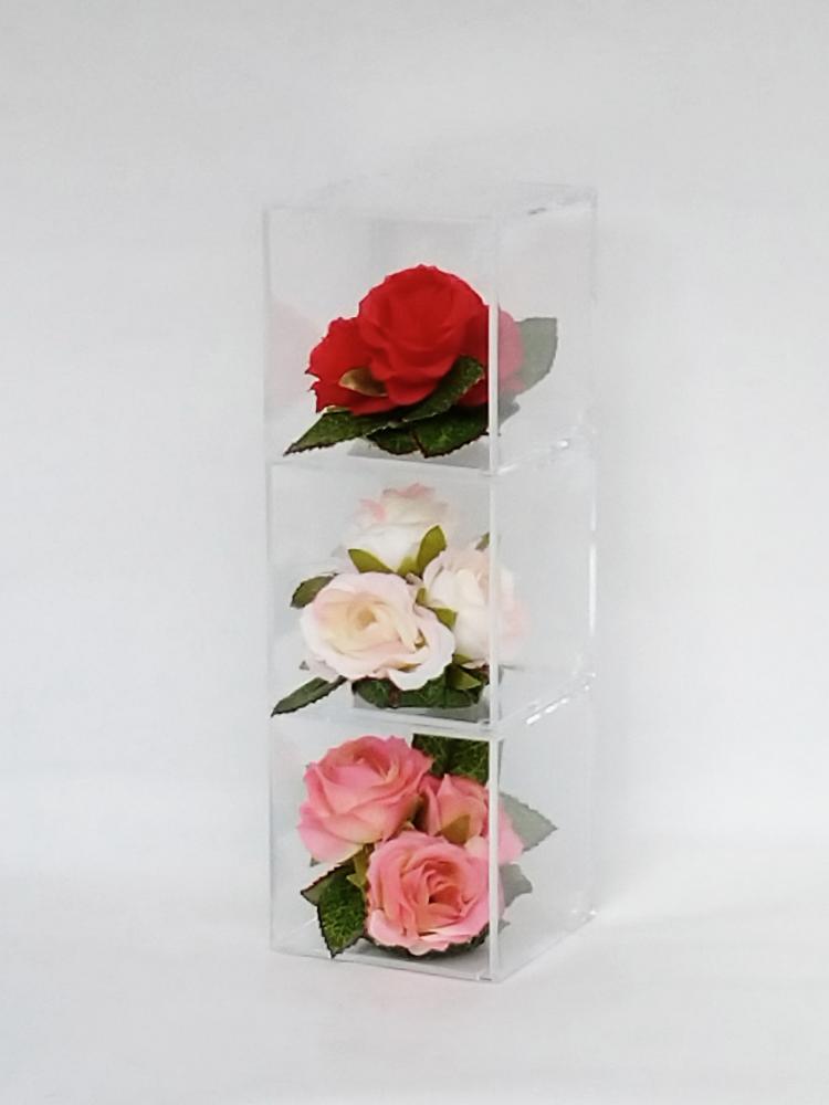 てのり花-TRIANGLE|ミニ薔薇3色