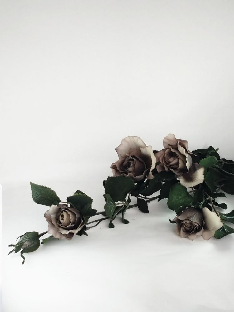 薔薇‐グレー色|アーテイフィッシャルフラワー