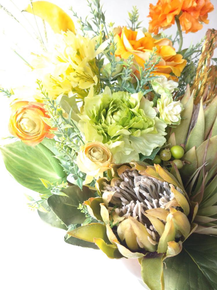 開店のお祝い花|えがお花-アーテイフィッシャルフラワー