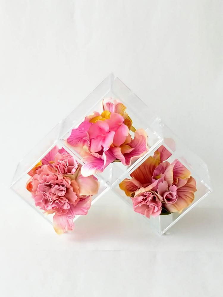 てのり花-ピンク アーテイフィッシャルフラワー
