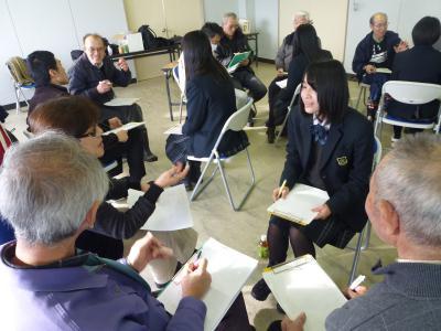 まちづくり講座、高校生がまちを語るために大人が支援する交流会