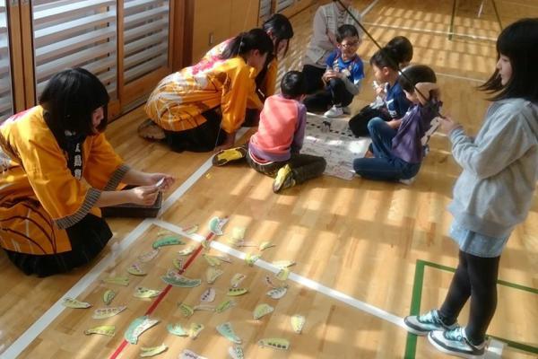 豆ガールズの豆育活動、玉庭小学校での取り組みがさくらんぼテレビに