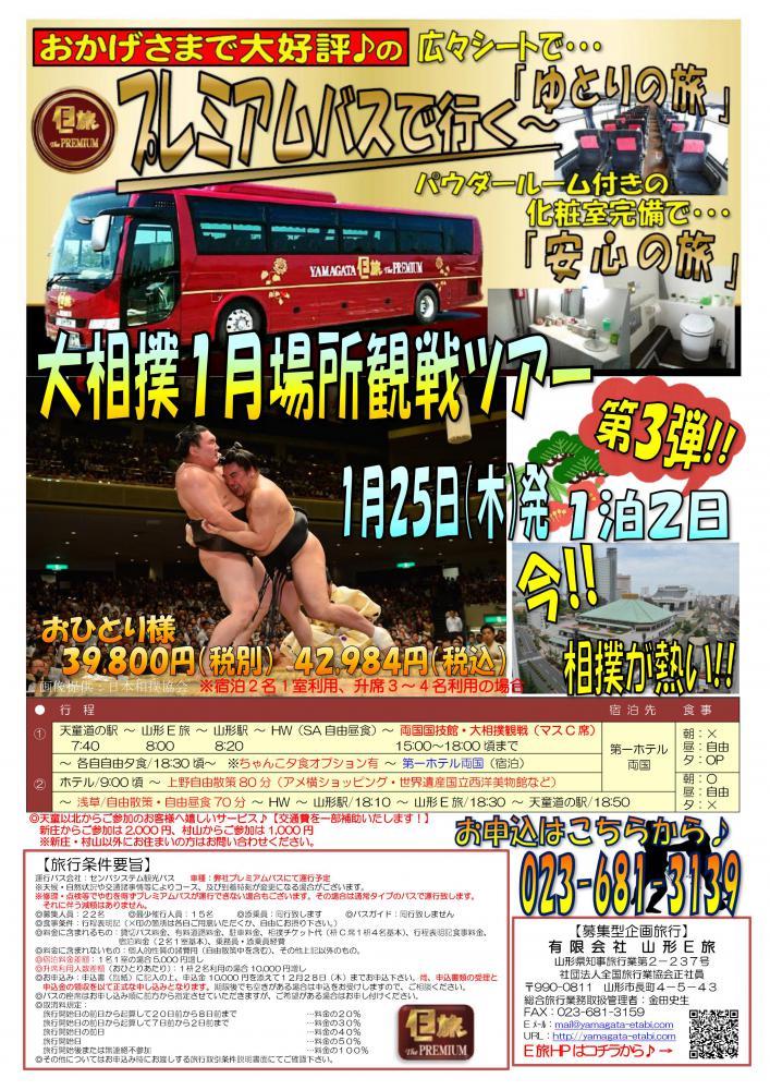 プレミアムバスで行く!大相撲1月場所観戦ツアー★:画像