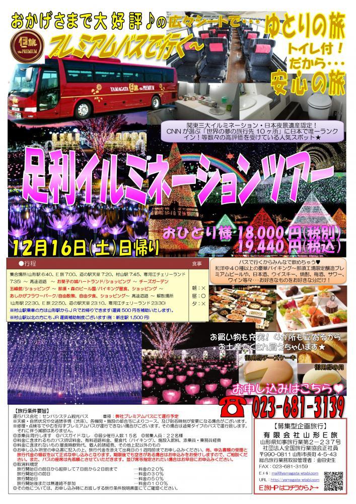 大変人気の為、12月23日追加催行決定!!足利イルミネーションツアー★:画像