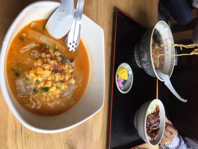 会津に美味しいラーメン食べにいきました!(牛乳ベース?)