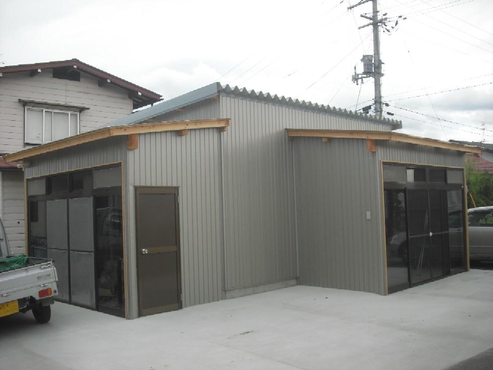 焼肉のタレを作る小屋