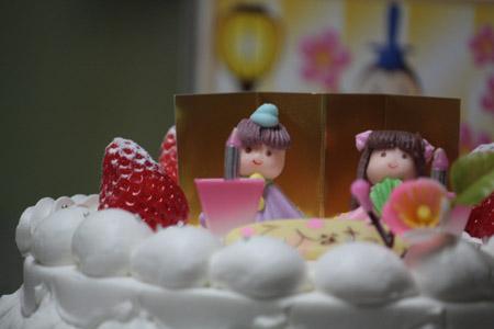 福田屋の雛ケーキ:画像