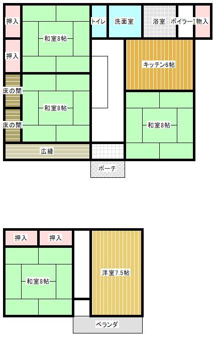 【貸家】南陽市長岡/5DK