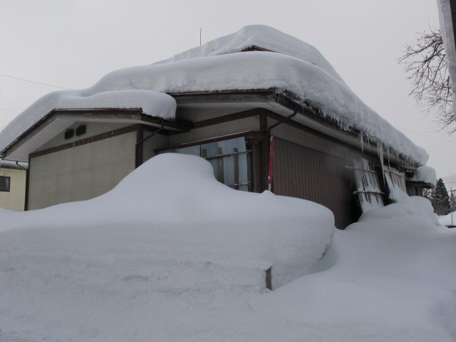 里山の積雪