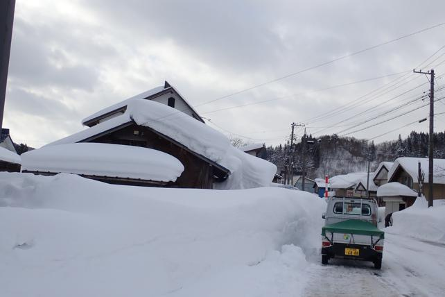 豪雪と民家