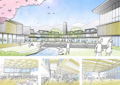 2008/02/28 00:00/西川町統合小学校プロポーザルにて羽田設計案が選ばれました!