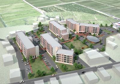 2010/07/01 11:09/PFIによる米沢市公営住宅塩井町団地建替等事業(2号棟)で羽田設計案が選ばれました