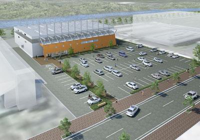 2013/04/17 12:59/寒河江市屋内多目的運動場が着工しました。