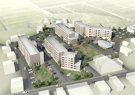 2014/03/01 13:36/PFI 山形県米沢市公営住宅塩井町団地3号棟が竣工しました。