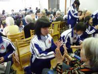 九里学園の生徒さんがボランティアに来られました