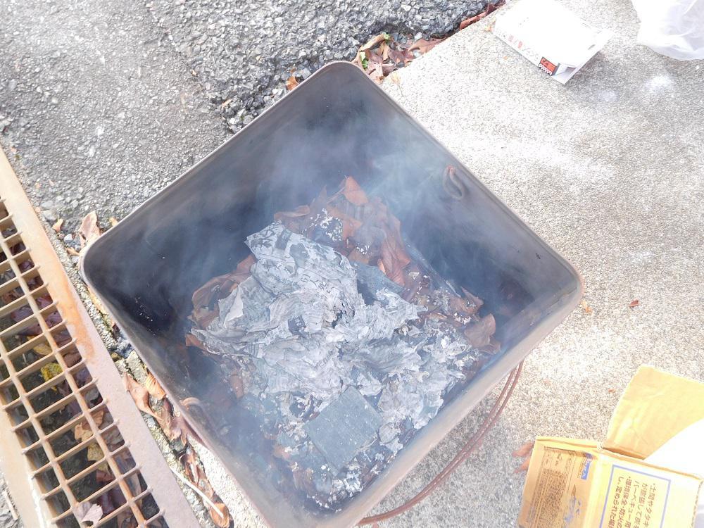 焼 き 芋 作 り