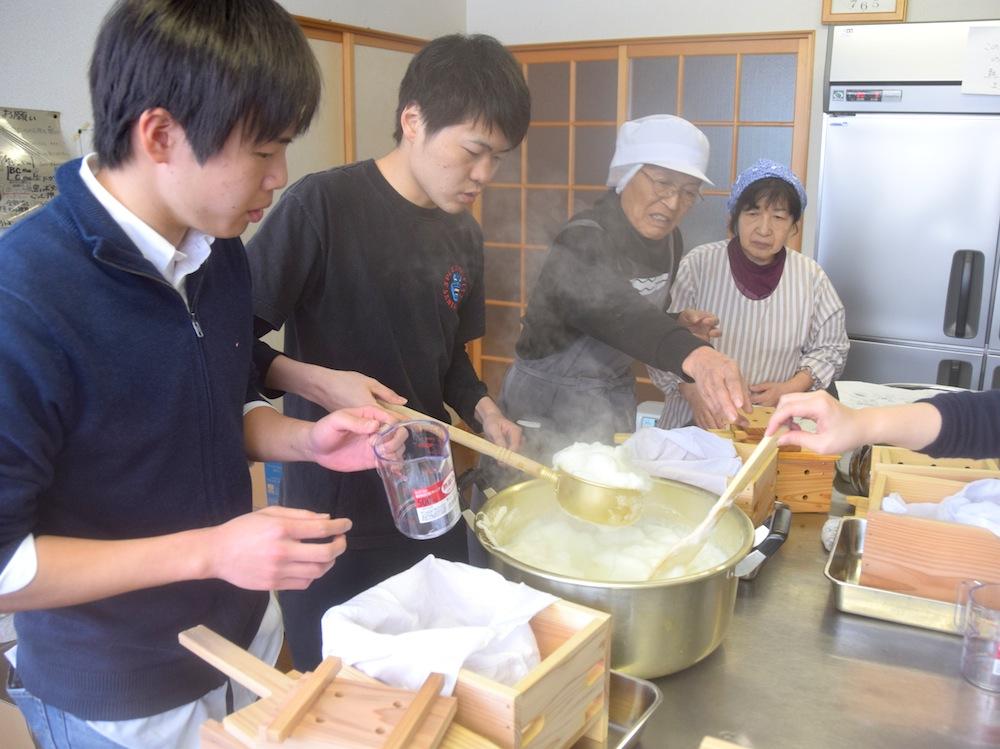 豆腐づくり体験:画像