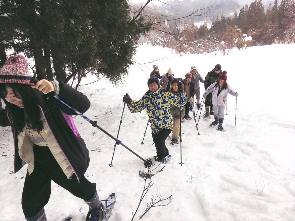 田代でスノートレッキングを行います