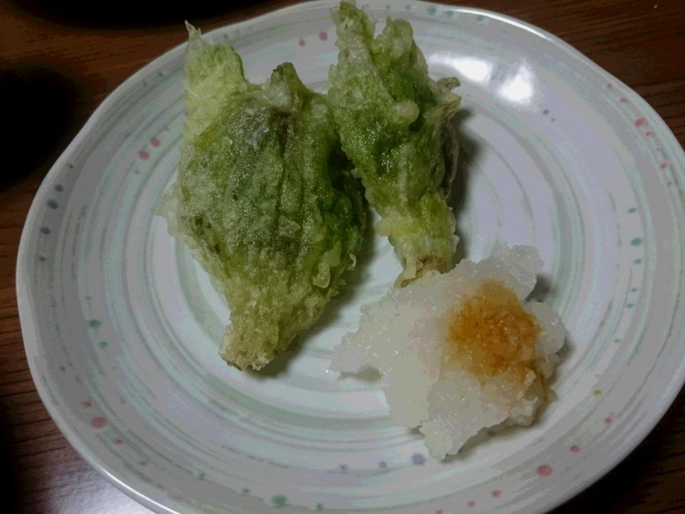 天ぷらで いただきました 春の使者