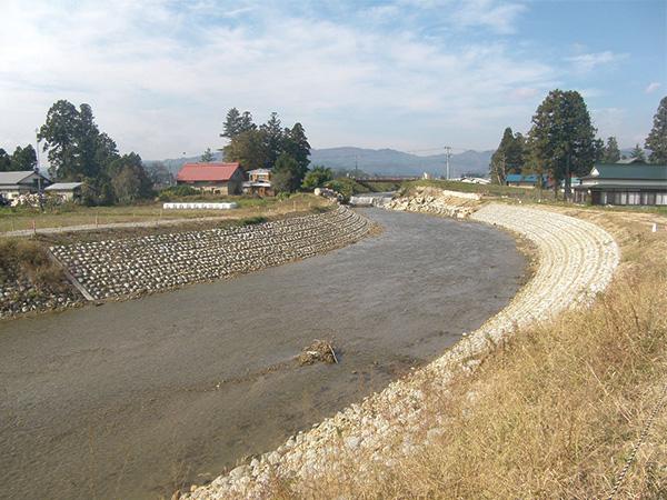 平成25年度 河川整備補助事業(防災安全・広域河川)萩生川護岸工事:画像