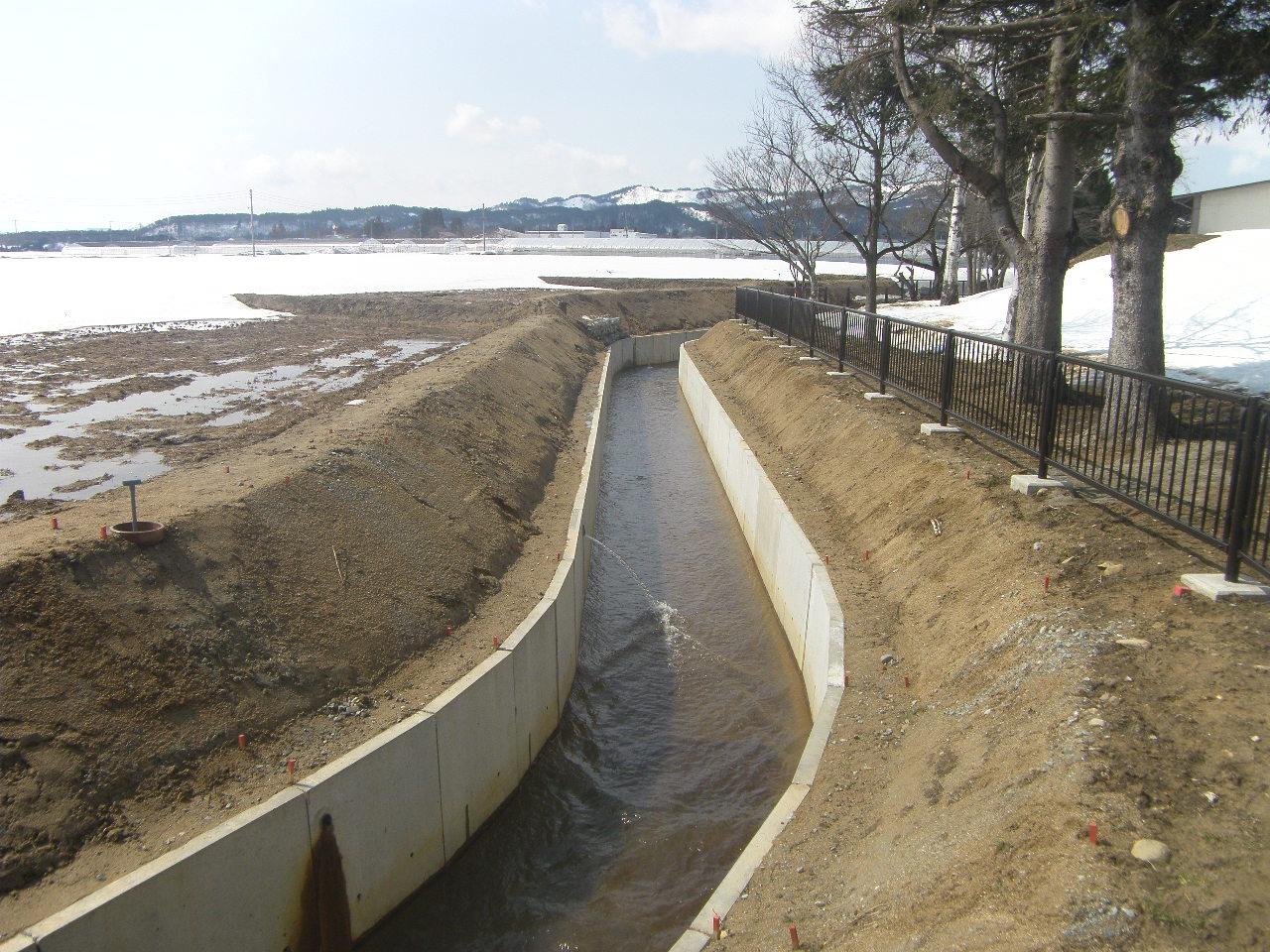 平成28年度 萩生地区農村地域防災減災事業(用排水施設整備)第1工区工事:画像