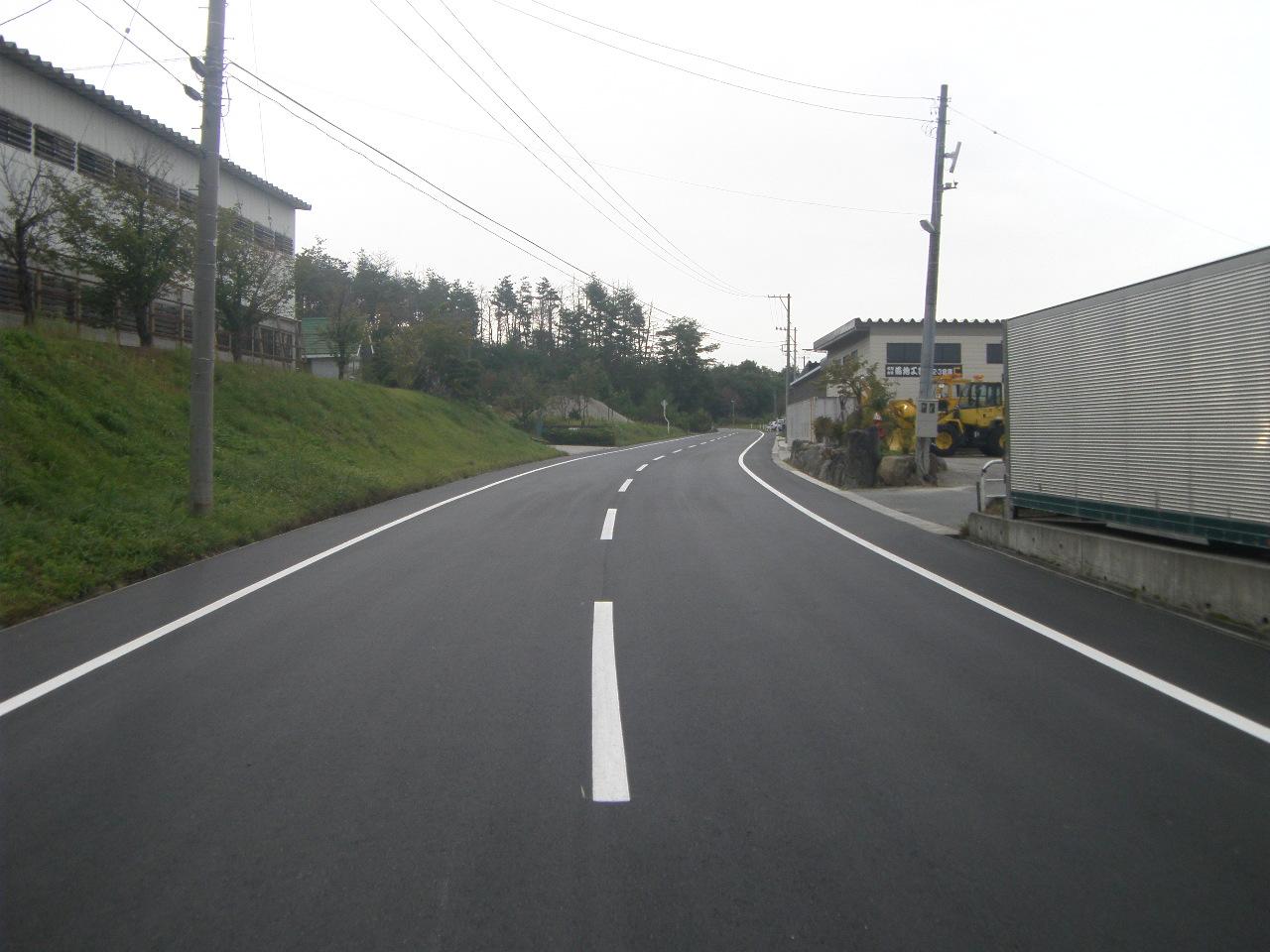 町道工業団地線外舗装補修工事:画像