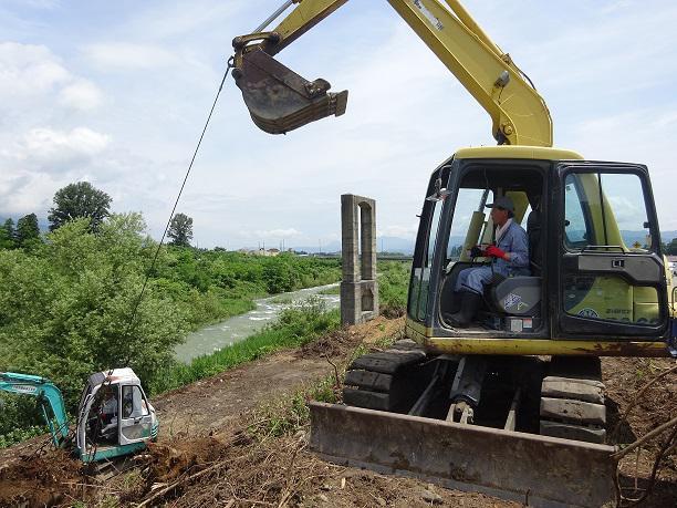 締切堤防復元プロジェクト進行中