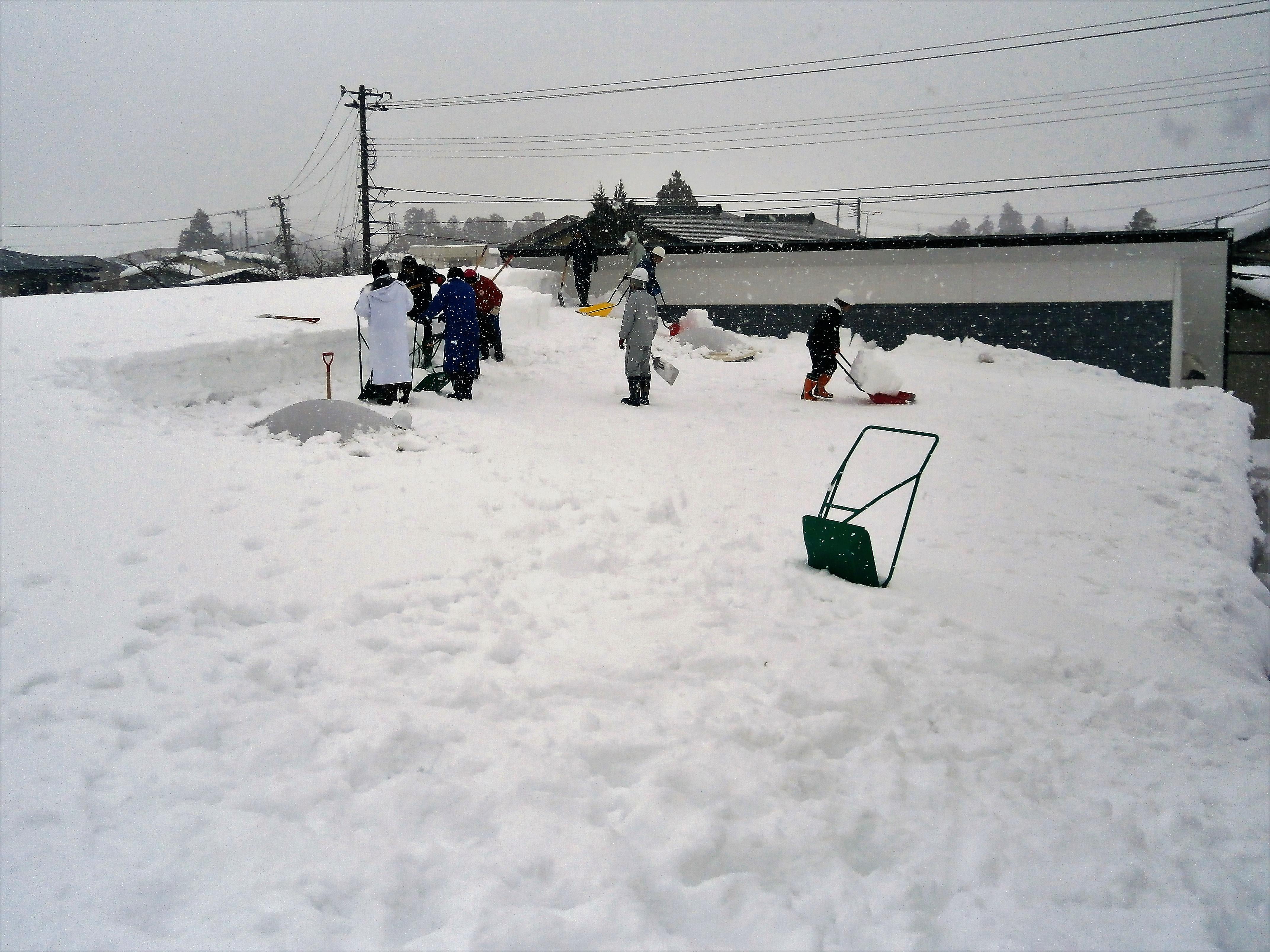 2月4日雪下ろし作業