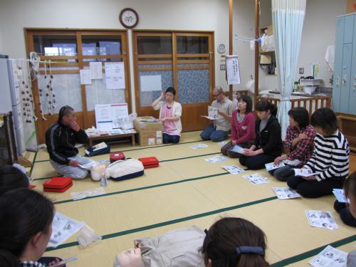 心肺蘇生とAEDの講習会をしました。