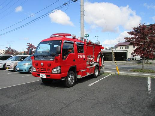 災害訓練で消防士の方が来て下さいました!